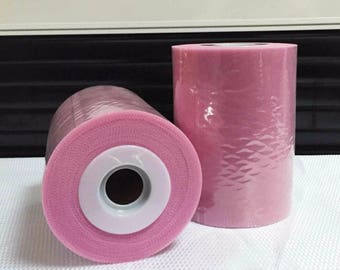 Tulle roll high quality pink dark 15 cm x 82 m for tutu and decoration.