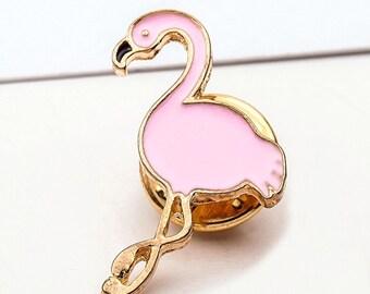 Pink Tropical Flamingo Animal Pin Badge Brooch - So Girly