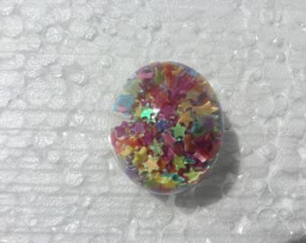 Ring filled glass stars