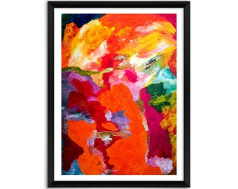 Red Giclee Print, Contemporary Red Orange Print, Modern Abstract Print, Red Abstract Print, Giclee Abstract Print, Abstract Artwork