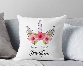 Unicorn gift, unicorn pillow, unicorn name gift, unicorn birthday gift, Girl Name Pillow, name pillow, pillow for girl, unicorn birthday