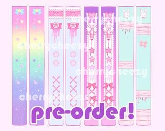 PRE-ORDER - Thigh Highs -  Menhera YumeKawaii Fairy Kei - One Size