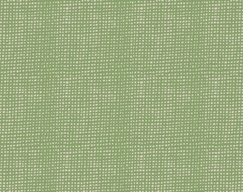 Plain Weave Thatch BON-38509 Bountiful Sharon Holland Art Gallery Fabric Girls Dress Handmade Quilting Burlap Texture Green Grass Sage woven