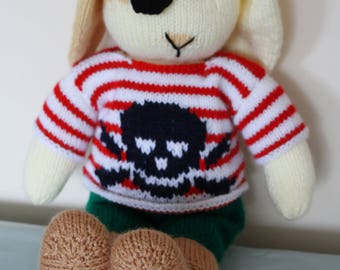 Pirate Bunny with skull jumper