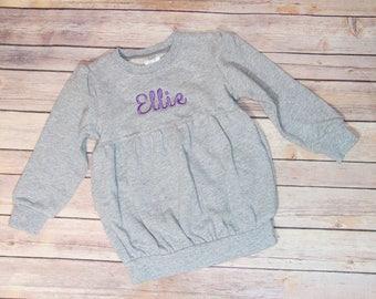 Monogrammed  Kid's Sweatshirt Bubble or Unisez