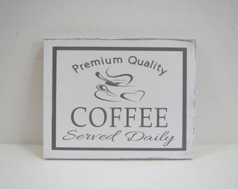 Coffee Sign/Small Kitchen Sign/Painted Coffee Sign