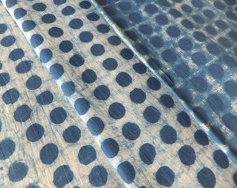 Hand Block Printed Indigo Cotton Fabric – Natural Indigo Fabric