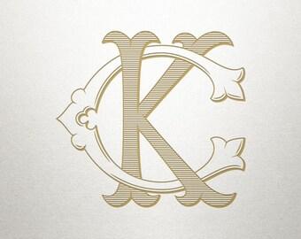 Wedding Monogram Design - CK KC - Wedding Monogram - Digital