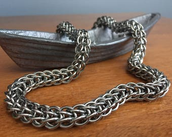 Persian 6-in-1 Steel Necklace, Chainmail Necklace