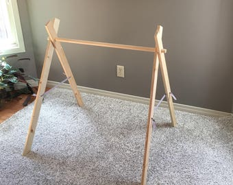 Hand Made Organic Wood Baby Gym Activity Center