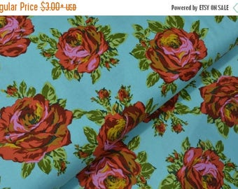 Sale Rose Lore in Sky from the Eternal Sunshine Collection by Amy Butler - Cotton Quilting Fabric