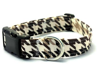 Black and Brown Houndstooth Collar