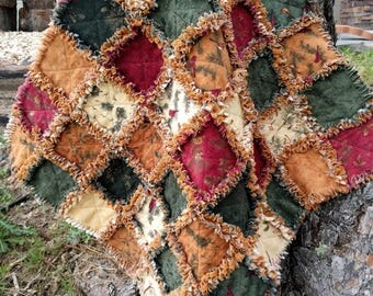 SUGAR PINE HILL Rag Quilt Kit - 84 Pre-fringed Moda Flannel Fabric Squares
