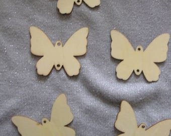 Raw wood, butterfly, nature color decoration