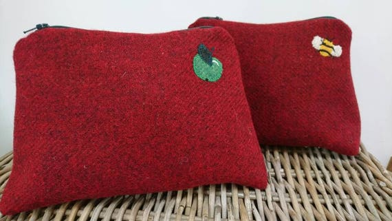 Hand Crafted Harris Tweed pencil case, cosmetic bag, purse