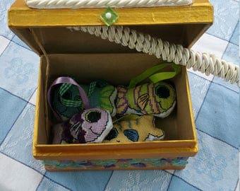 Handmade Cross stitched fishing game
