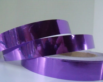 Purple Mirror Custom Taped Dance Hula Hoop - Polypro or HDPE, 5/8 and 3/4