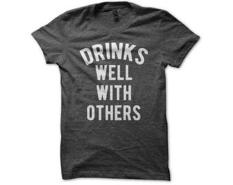 Drinks well with etsy for Funny craft beer shirts