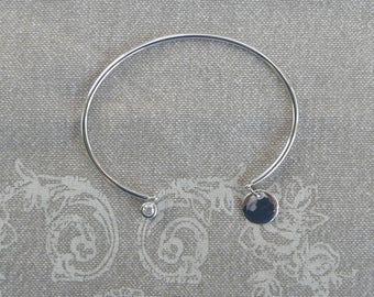 "Bangle silver rigid ""Medal & bright"""