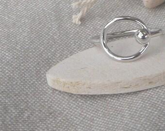 """Silver ring """"Circle"""""""