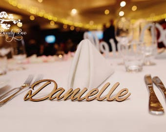 50 Pk   Personalised Wedding Place Cards   Guest Names    Laser Cut Names   Custom Wedding Signs   Wooden Place Names   Arcylic Place Names