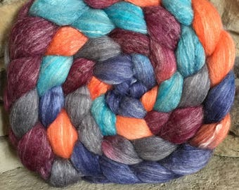 50/25/25 Merino/Silk/Bamboo Combed Top Spinning Fiber - Hand Painted - Feltable - approx. 4 ounces each - NEBULA