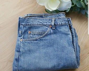 Vintage Mens Levi's 612 Jeans Straight Leg Blue Size W 38 L 43