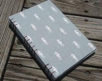 Hand Bound Journal/Sketchbook (Seahorses)