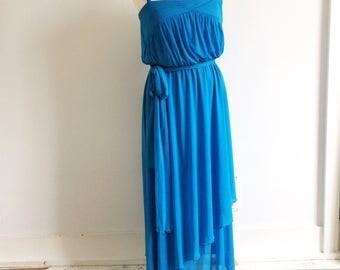 70s Electric Blue Dress