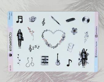 W013 - Music Love Deco Stickers