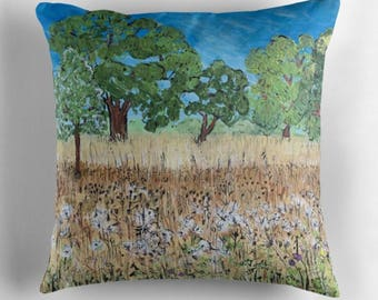 Beautiful Throw Cushion Featuring The Painting 'To Everything There Is A Season'