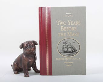 Two Years Before The Mast, Richard  Henry Dana Jr, Vintage, Reader's Digest Edition, Red Leather Spine, Hardcover ~ Purdy Words ~ 161024