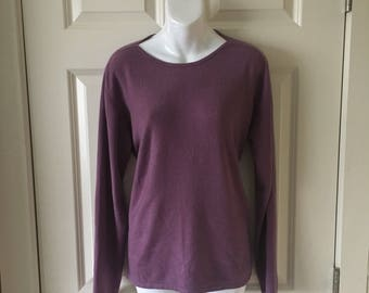 Purple lyrca/nylon sweater
