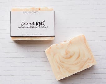 Coconut Milk Soap - Handmade Soap, All Natural Soap, Vegan Soap, Cold Process Soap, Bar Soap