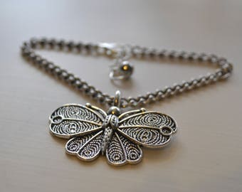 Handmade butterfly bracelet