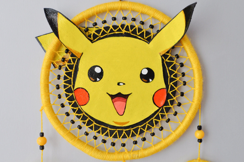 Pikachu Decor - Pokemon Fan Gift - Dream Catcher Wall Hanging ...