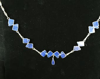 Vintage Mexican Sterling And Lapis Necklace
