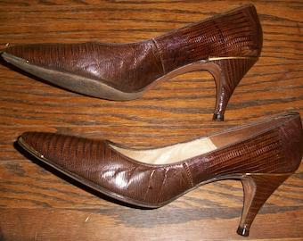 Vintage 80's Alligator Pumps or Heels