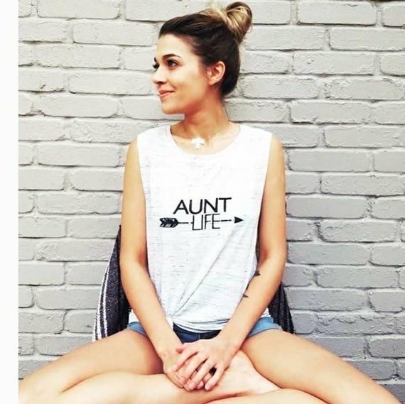 AUNT LIFE White Marble Tank, Aunt Life Tank, Aunt Gift, Best Aunt, Auntie Life, Aunt Gifts