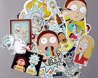 Rick and morty sticker pack (35 pcs)