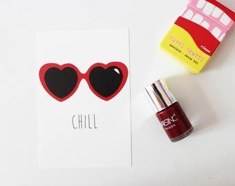 Map postcard Chill sunglasses