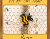 Honey Bee gift card envelope | money card | pouches | DIY coupon | voucher holder | envelope