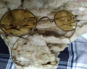 Antique Wire Rim Glasses in Case