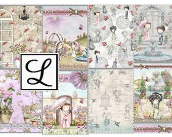 SALE 50% OFF - Rosebudd Digi Papers - lovely digital papers for scrapbooking, card making and paper crafts.