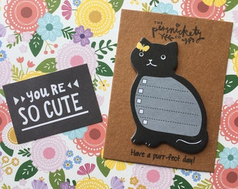 Cat Sticky Note / Memo Note / Desk Note - Have a purr-fect day!