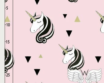 """The skirt """"Pink UNICORNS"""" organic cotton and bamboo * 1 week manufacturing time"""