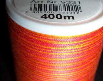 Remnants-sewing-or fine thread from the Madeira brand-Cotona multicolor-Different colors