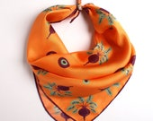 Beetroot Symphony - Hand Illustrated 100% Silk & Wool Scarf
