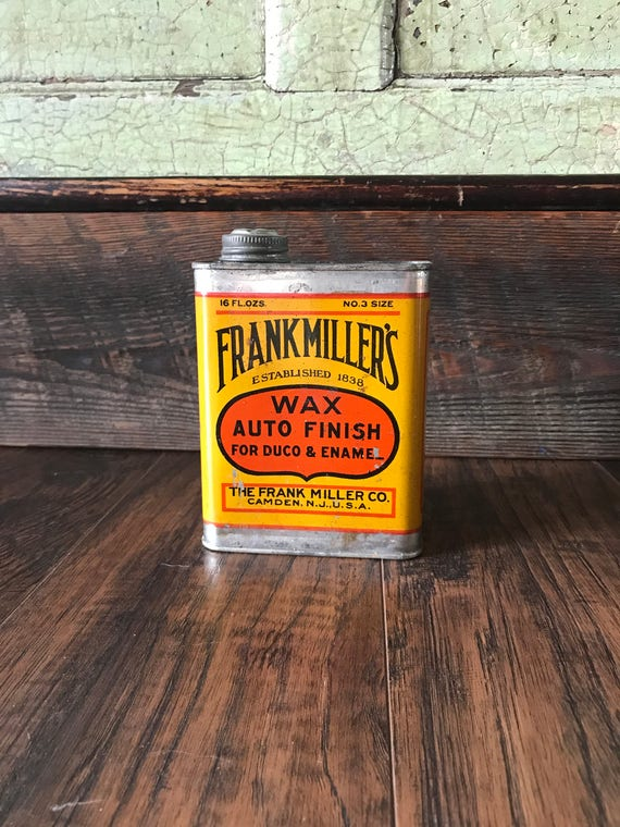 Original Frank Miller's Wax Auto Finish Can