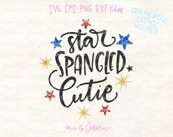 Star spangled svg, 4th of July Svg, fourth of july svg, memorial day svg, svg files for cricut, cricut designs, svg files, kid tshirt svg